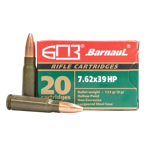 7.62x39mm - Barnaul Ammunition - Rifle, HP, 123GR. 20RD/BX