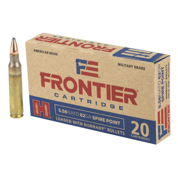 5.56 NATO - Hornady - Rifle, Frontier SP, 62GR. 20RD/BX