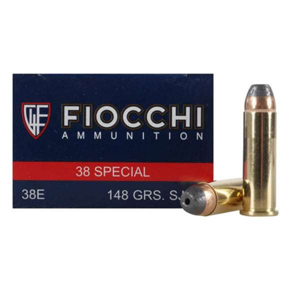 .38 Special - Fiocchi - Shooting Dynamics, JHP, 148GR. 50RD/BX