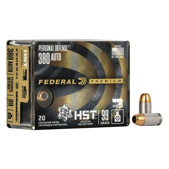 .380 Auto - Federal - Personal Defense, HST Micro JHP 99GR.