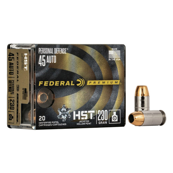 .45 Auto - Federal - Personal Defense, HST, JHP 230GR.