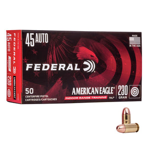 .45 Auto - Federal - American Eagle, Indoor Range Training, FMJ, TMJ, 230GR.