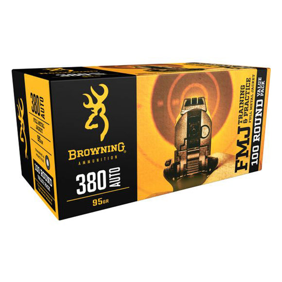 380 Auto - Browning Ammo - BPT TARGET, 95GR. FMJ, 50BX