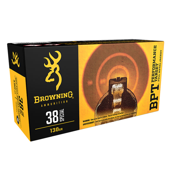.38 Special - Browning Ammo - BPT TARGET, 130GR. FMJ, 50BX