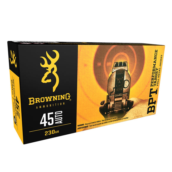 .45 Auto - Browning Ammo - BPT TARGET, 230GR. FMJ, 50BX