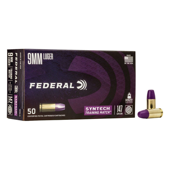 9mm Lugar - Federal - Syntech Training Match, 147GR.