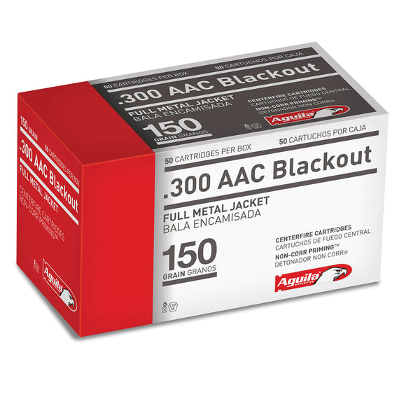 .300 AAC Blackout - Aguila Ammunition - Rifle, FMJ, 150GR. 50RD/BX