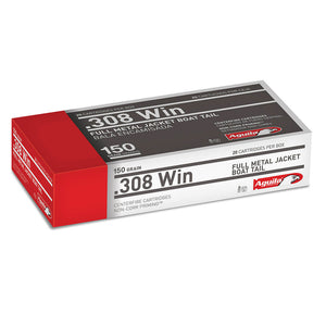 .308 WIN - Aguila Ammunition - Rifle, FMJBT, 150GR. 20RD/BX