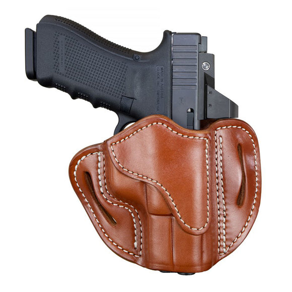 Optic Ready Open Top Multi-Fit Belt Holster-BH2.1 - Classic Brown