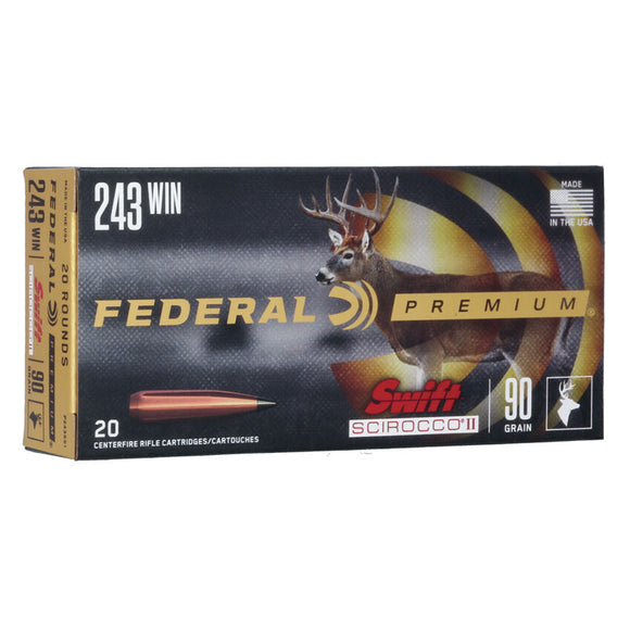 .243 Winchester - Federal Ammunition - Rifle, Scirocco II 90GR. 20RD/BX