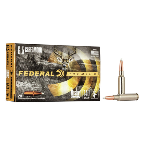 6.5 Creedmoor - Federal Ammunition - Nosier AccuBond 140GR. 20RD/BX