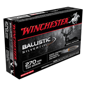 .270 Winchester, Winchester Ammo, Ballistic Silver Tip 130GR. 20RD/BX