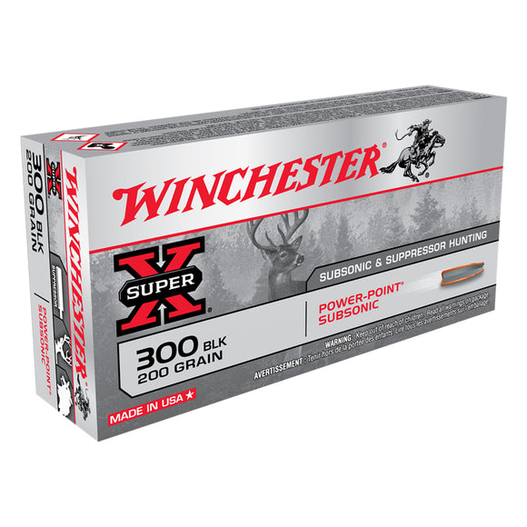 .300 Blackout, Winchester Ammo, Super-X PPS 200GR. 20RD/BX