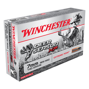 7mm Rem Mag, Winchester Ammo, Deer Season XP 140GR., 20BX