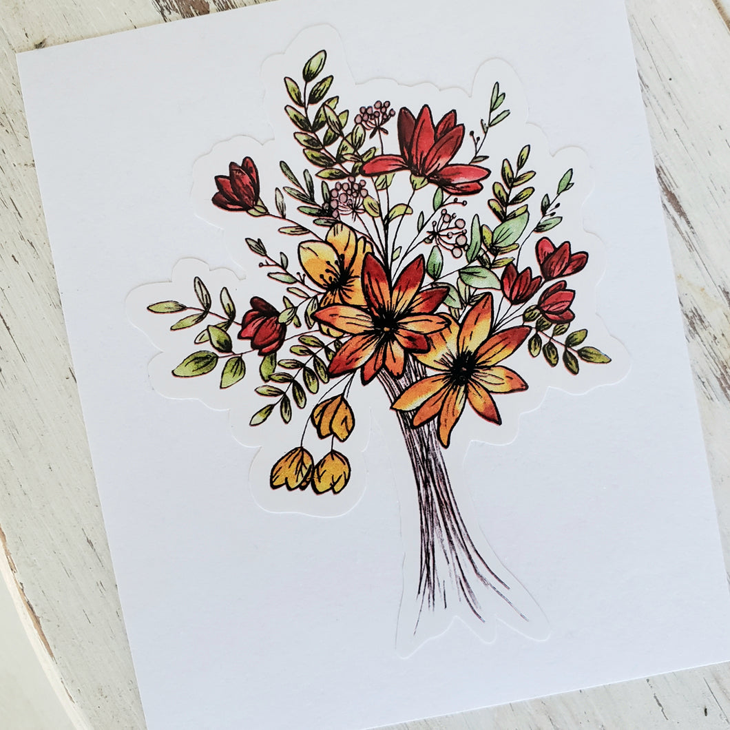 Bouquet Wildflowers Decal