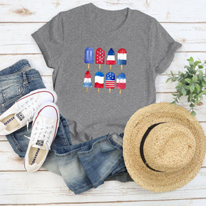 Red White and Blue Popsicle Graphic Tee