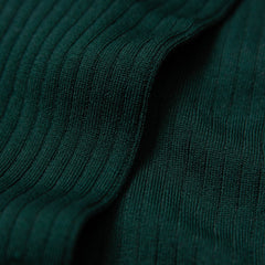 Nils - Knee-High Cotton Socks - Dark Green