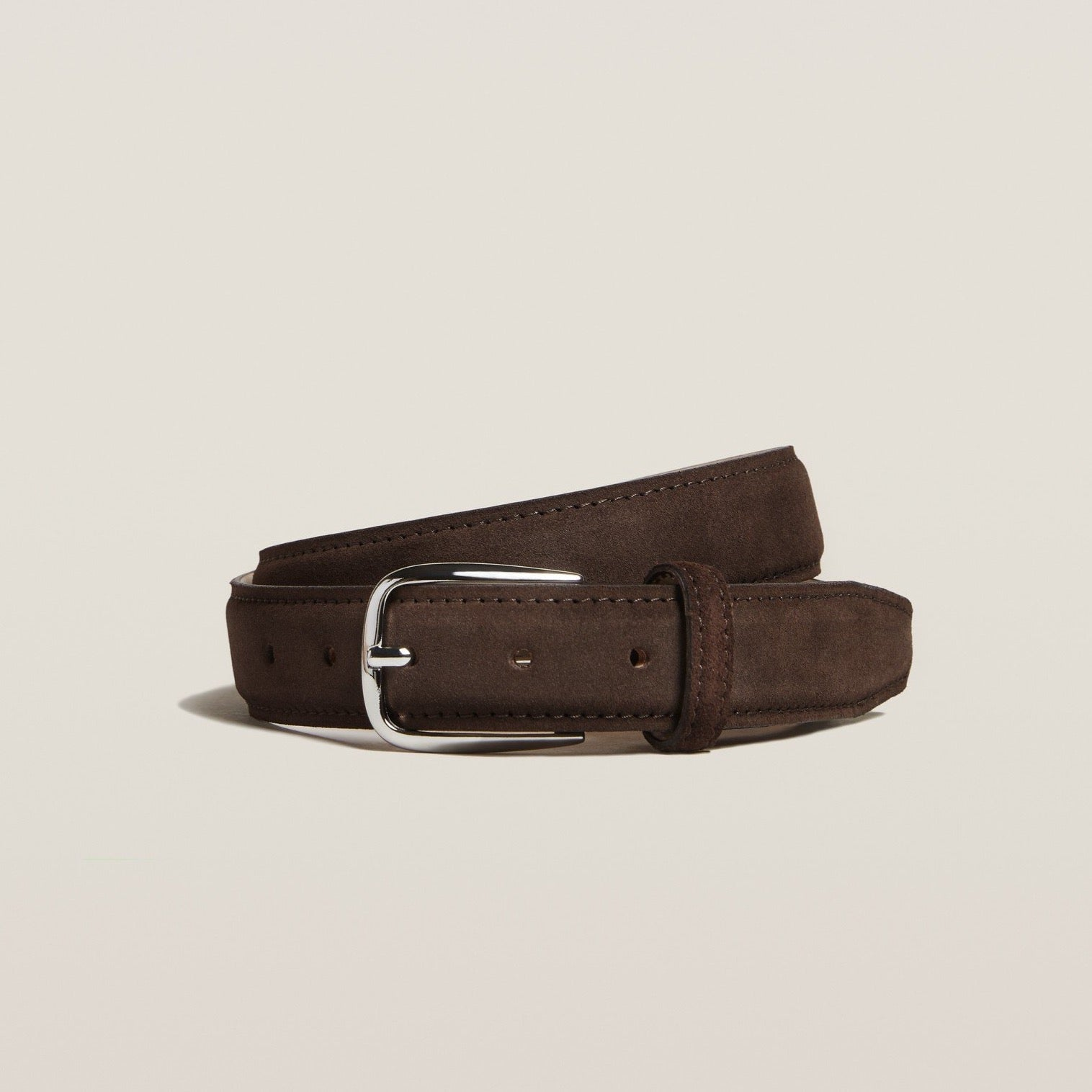 Belt - Dark Brown Suede