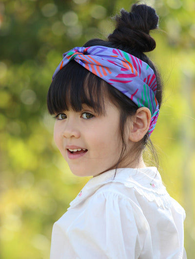 Silk headband blue