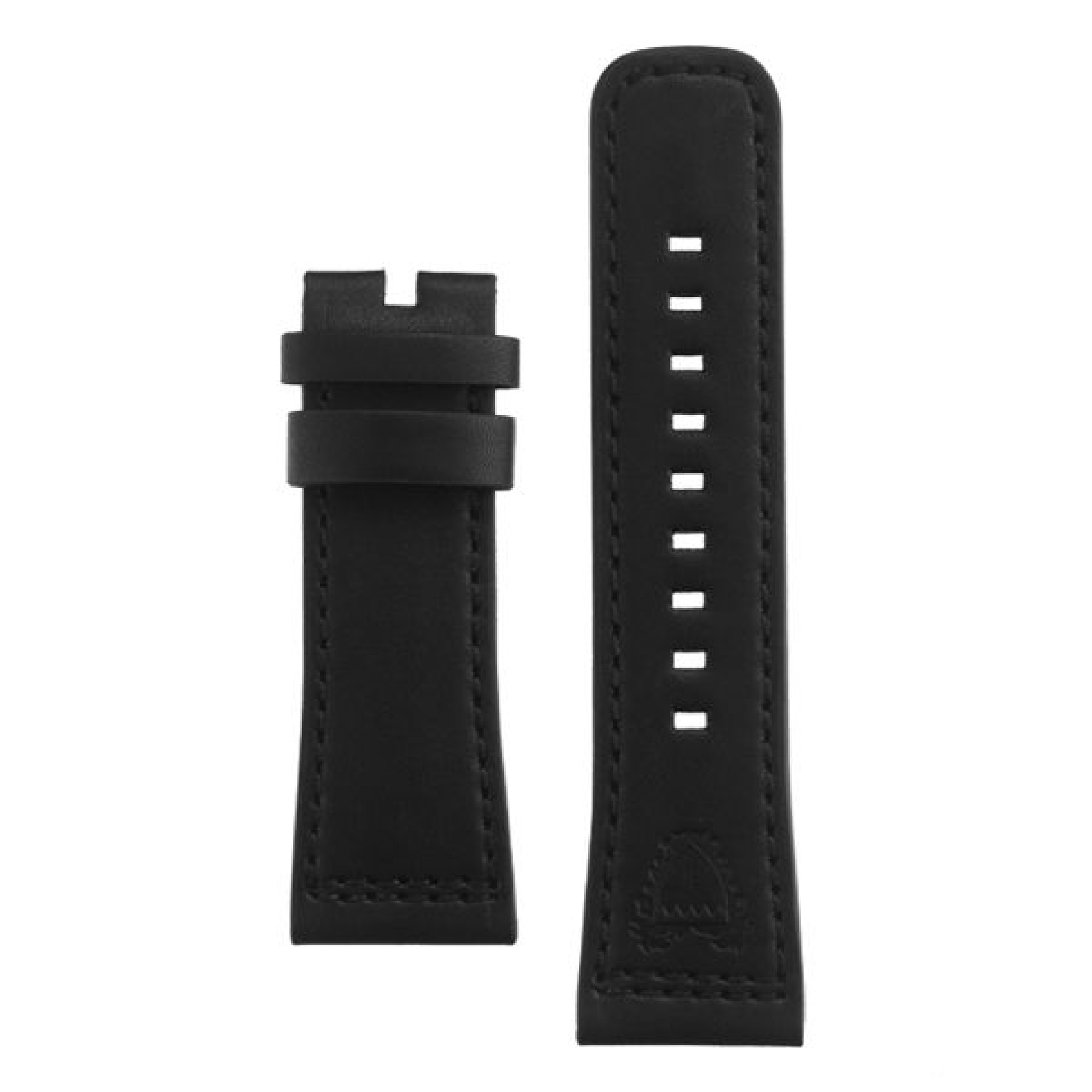 Leather strap black, Bahrain emblem
