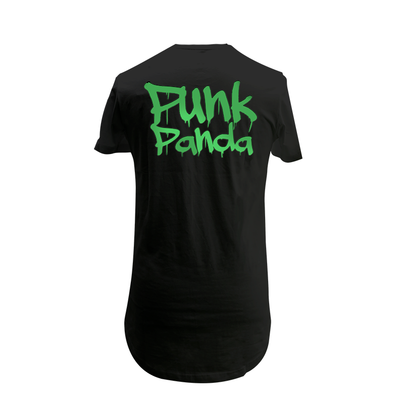 PUNK PANDA BY ROCKETBYZ T-Shirt Black