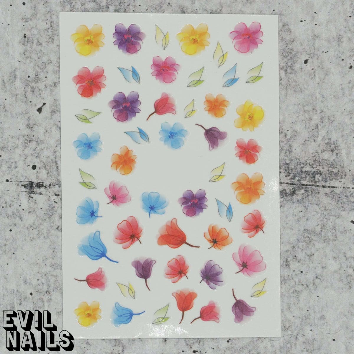 Evil Nails Decals Blossoms In The Wind