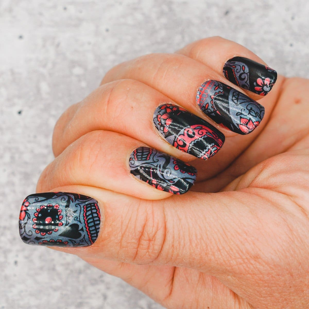 Day of the Dead - Nail Polish Strips