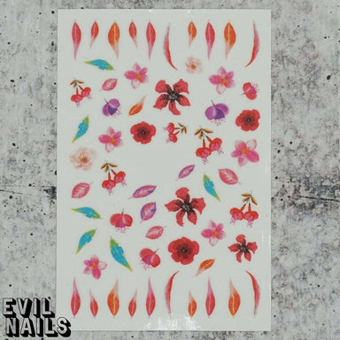 Evil Nails Decals Fire Foliage