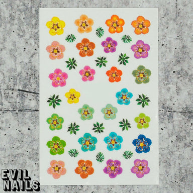 Evil Nails Decals Flower Power