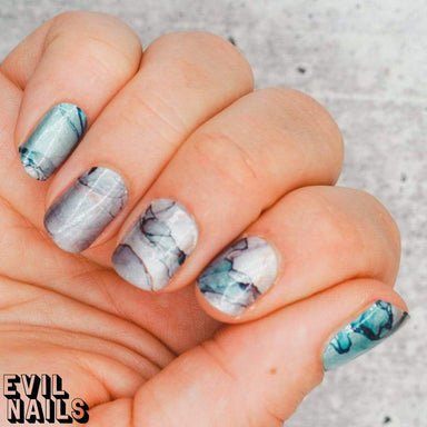 Evil Nails Nail Polish Strips Fractured Pool