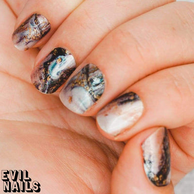 Evil Nails Nail Polish Strips Gold Rush