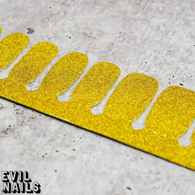 Lemon-Lime Glitter - Nail Polish Strips