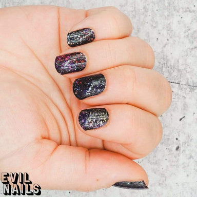 Evil Nails Nail Polish Strips Rainbow Splatter