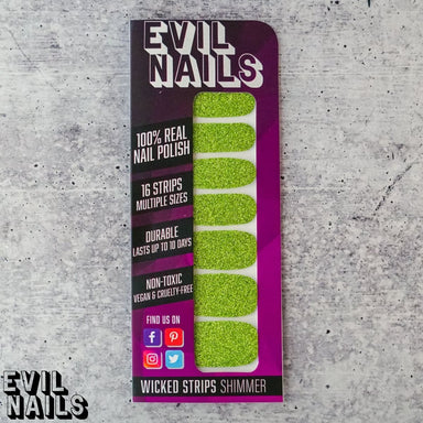 Sour Apple Glitter - Nail Polish Strips