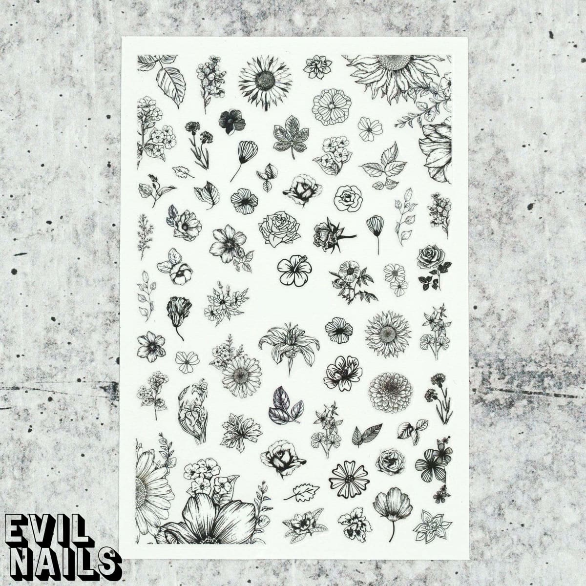Evil Nails Decals Vintage Floral
