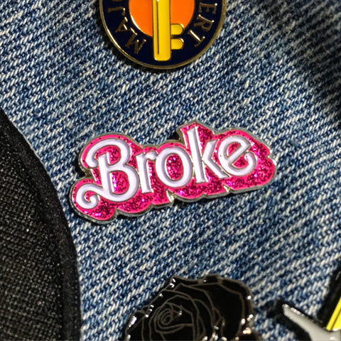 broke pin - meaniemart, pins, patches