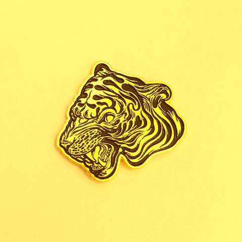 Easy Tiger Pin - meaniemart, pins, patches