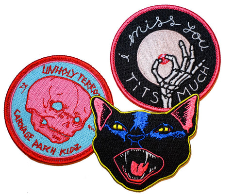Tits Pussies & Carnage Patch Pack - meaniemart, pins, patches