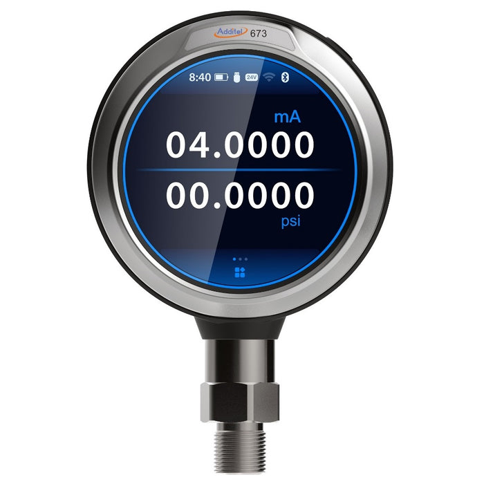 Additel's New 673 Advanced Digital Pressure Calibrators Provide a Smartphone Like Experience coupled With the Ability to Simultaneously Measure Pressure and a Transmitter