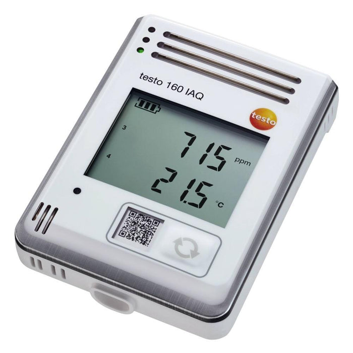 Testo 160 IAQ : Temp, Humidity, CO2 & Atmospheric Pressure Datalogger-Wifi - anaum.sa
