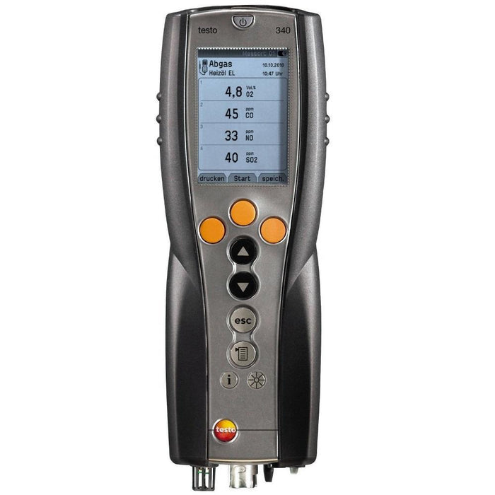 Testo 340 : Flue gas analyzer for use in industry - anaum.sa