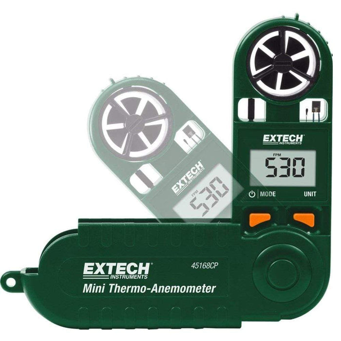 Extech 45168CP: Mini Thermo-Anemometer with Built-in Compass - anaum.sa