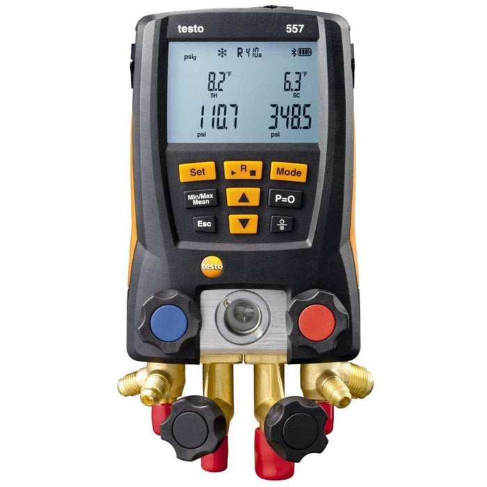 Testo 557 : Digital Manifold Kit - with Bluetooth + 4 Filling Tubes - anaum.sa