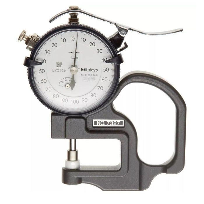 Mitutoyo 7327 : Dial Thickness Gauge, 0-1mm - anaum.sa