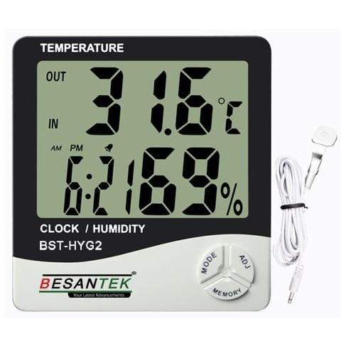 Besantek BST-HYG2 Large Display Thermo-Hygrometer - anaum.sa
