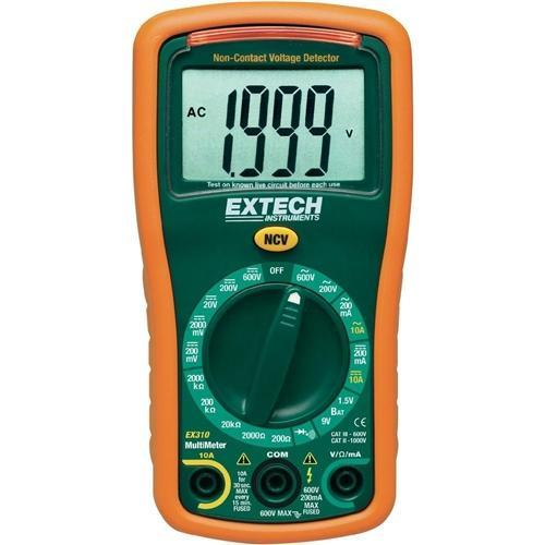 Extech EX310: 9 Function Mini MultiMeter + Non-Contact Voltage Detector - anaum.sa