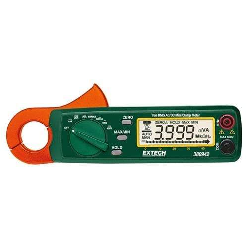 Extech 380942: 30A True RMS AC/DC Mini Clamp Meter - anaum.sa