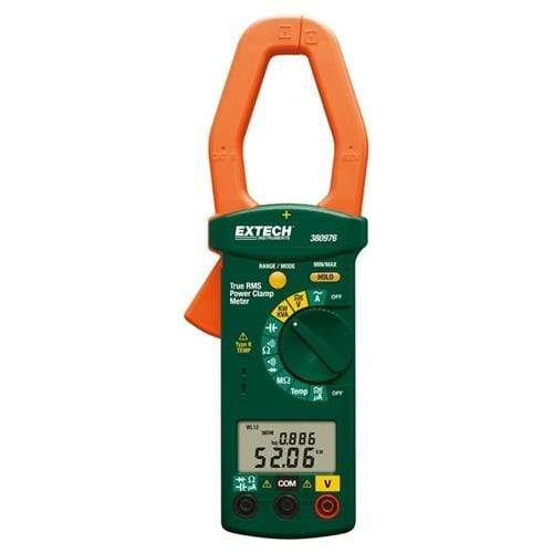 Extech 380976-K: Single Phase/Three Phase 1000A AC Power Clamp Meter Kit - anaum.sa