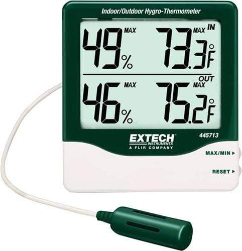 Extech 445713: Big Digit Indoor/Outdoor Hygro-Thermometer - anaum.sa