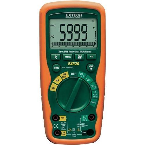 Extech EX520: 11 Function Heavy Duty True RMS Industrial MultiMeter - anaum.sa
